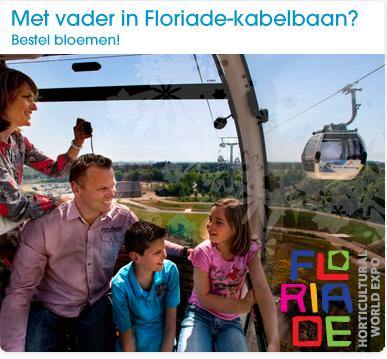 Met vader in Floriade-kabelbaan?