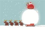 Kerstman met rendieren