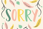 Sorry met blad