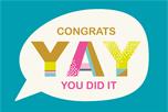 Yay you did it wenskaart
