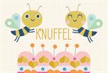 Knuffel met bijtjes kaart