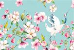 Bloesem kraanvogel